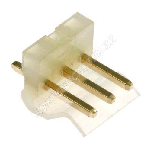 Konektor se zámkem 3 piny (1x3) do DPS RM3.96mm přímý pozlacený Xinya 134-03 S G