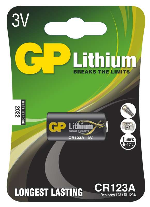 GP Lithium CR123A 1ks 1022000111