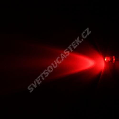 LED 5mm červená 3000mcd/40° čirá Hebei 540HR3C