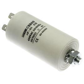 Rozběhový kondenzátor CBB60E 6uF/450V ±5% Faston 6.3mm SR PASSIVES CBB60E-6/450