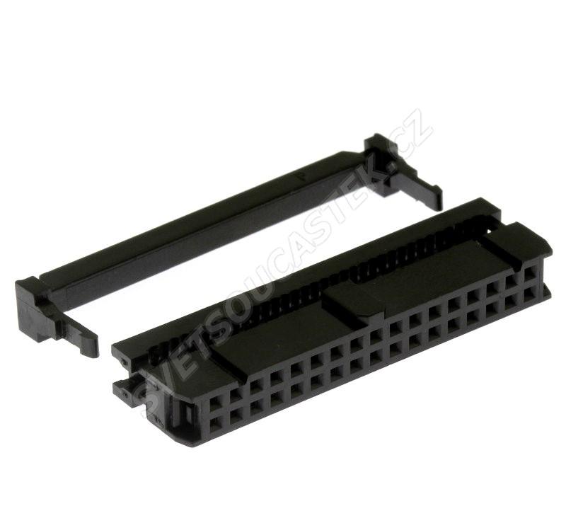 Konektor IDC pro ploché kabely 34 pinů (2x17) RM2.54mm na kabel přímý Xinya 110-34 T A K