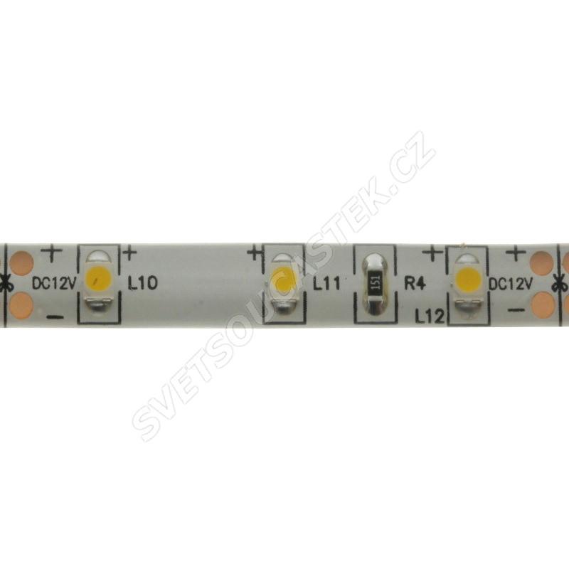 LED pásek přírodní bílá délka 1 metr, SMD 3528, 60LED/m - vodotěsný STRF 3528-60-NW-IP65