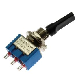 Páčkový spínač do panelu přepínací 1-pólový ON-ON 6/3A 125/250V AC Jietong  MTS-102-E1