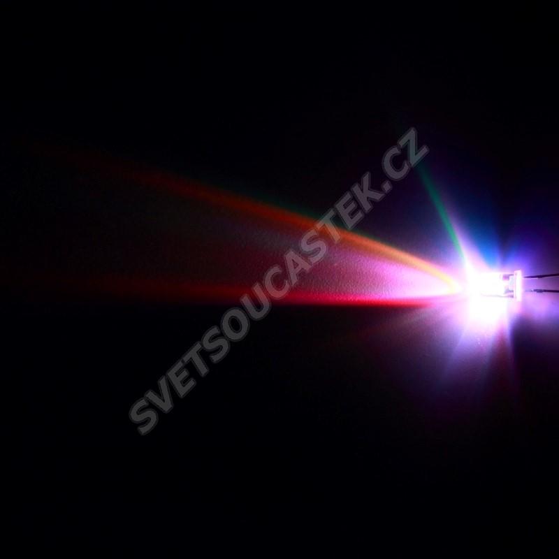 LED 5mm RGB pomalu měnící barvu 1500mcd/15° čirá 2 vývody Hebei 5XRGB-F2-S