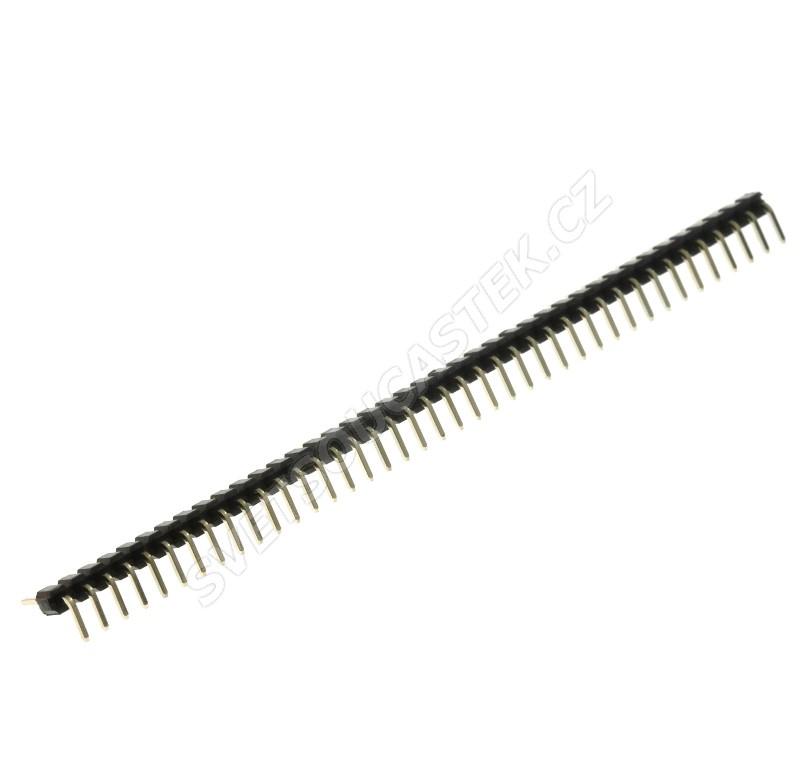 Lámací kolíková lišta jednořadá 40 pinů RM2mm pozlacená přímá Connfly DS1025-02-1*40P8BR1