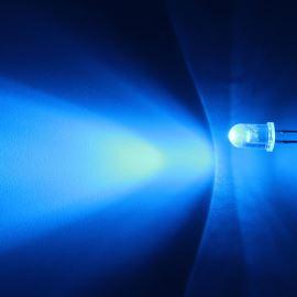 LED 5mm modrá 3000mcd/30° čirá Hebei 530PB6C
