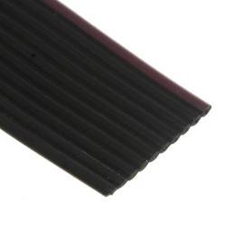 Plochý kábel AWG28 10 žil licna rozteč 1,27mm PVC čierna farba