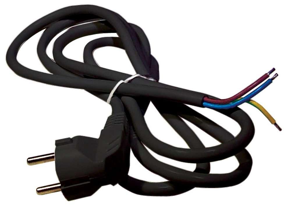 Levně Flexo šňůra pvc 3x1,5mm délka 3m černá barva