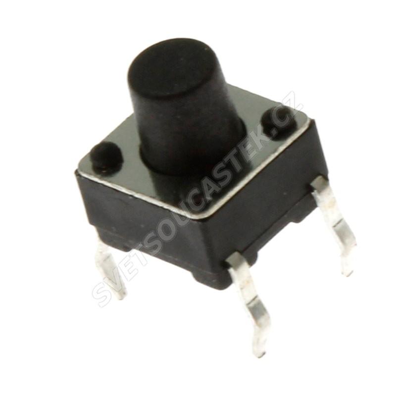 Mikrospínač do DPS spínací 1-pólový OFF-(ON) 0.05A 12V DC Ninigi TACT-67N-F