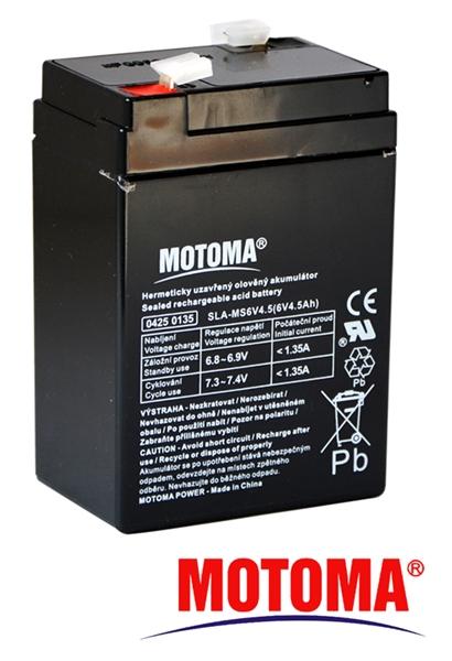 MOTOMA Baterie olověná 6V/ 4,5Ah bezúdržbový akumulátor
