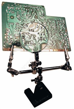 Pomocný držák pro pájení s lupou (třetí ruka) Zhongdi ZD-10D