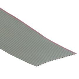 Plochý kabel AWG28 24 žil licna rozteč 1,27mm PVC šedá barva