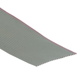 Plochý kábel AWG28 24 žil licna rozteč 1,27mm PVC šedá farba