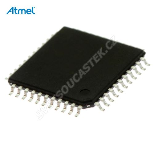 8-Bit MCU AVR 2.7-5.5V 16kB Flash 16MHz TQFP44 Atmel ATMEGA16-16AU