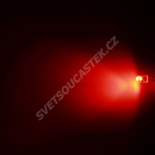 LED oválná 5,2x3,8mm červená 1100mcd/(70/40°) transparentní Hebei 774MR2T-S