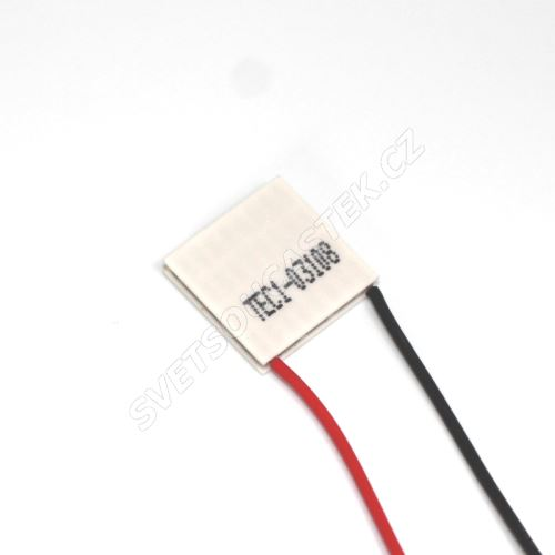 Peltierův článek 17,6W 20x20mm Hebei TEC1-03108