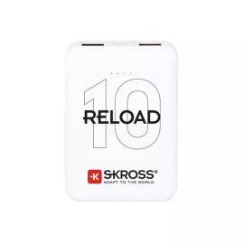 PowerBank SKROSS Reload 10, 10000mAh, 2x 2A výstup, microUSB kabel, bílý