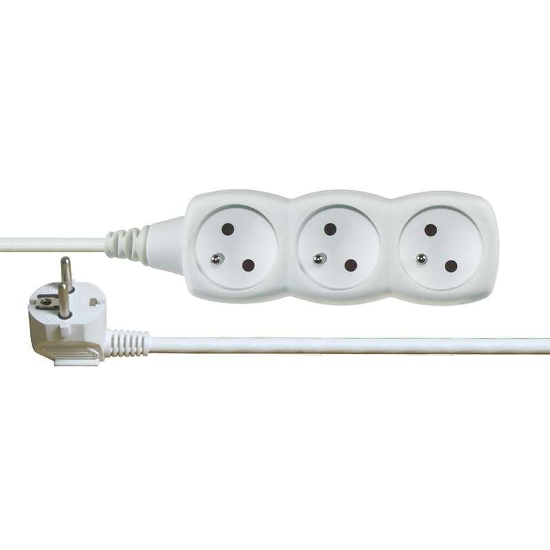 Prodlužovací kabel bílý 3x1mm 3 zásuvky 10m