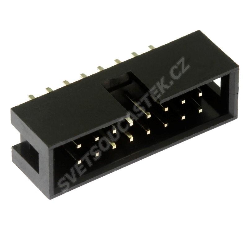 Konektor IDC pro ploché kabely 16 pinů (2x8) RM2.54mm do DPS přímý Xinya 118-A 16 G S K