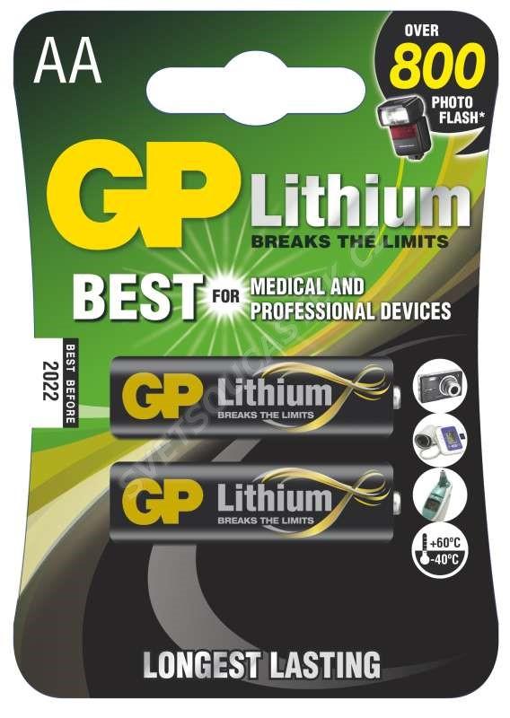 Lithiová baterie GP FR6 (AA, tužka), 2 ks v blistru