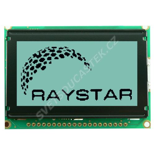 Grafický LCD displej Raystar RG12864B-GHW-V