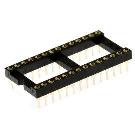 Precizní patice pro IO 28 pinů široká DIL28 Xinya 126-6-28RG