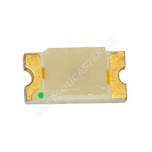 LED SMD vel. 1206 zelená 250mcd/130° Hebei 1206PG0C