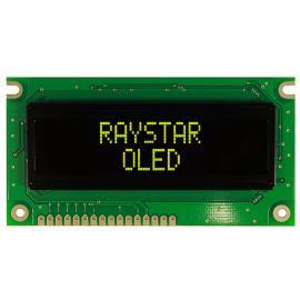 Alfanumerický OLED displej Raystar REC001602EYPP5N00000