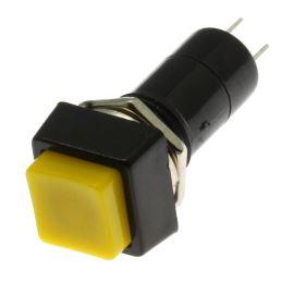 Tlačítkový spínač do DPS přímý spínací 1-pólový OFF-(ON) 1A 125/250V AC Jietong  PBS-12B YELLOW
