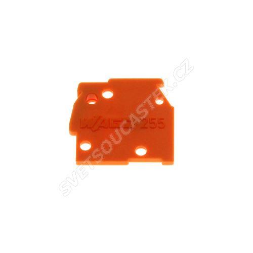 Bočnice pro svorkovnice oranžová WAGO 255-600