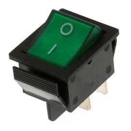 Kolébkový spínač do panelu spínací 2-pólový ON-OFF 20A 12V DC Jietong  IRS-201-1C3D-G/B