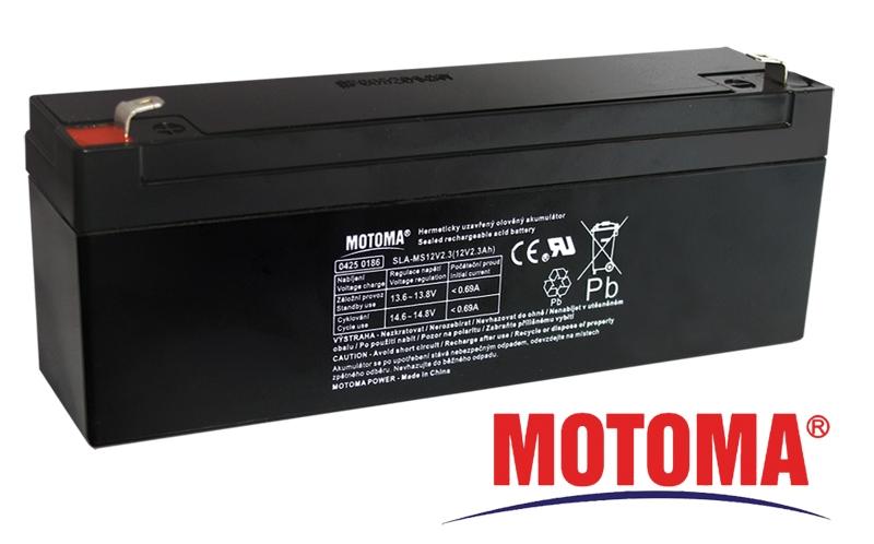 MOTOMA Baterie olověná 12V / 2,3Ah bezúdržbový akumulátor