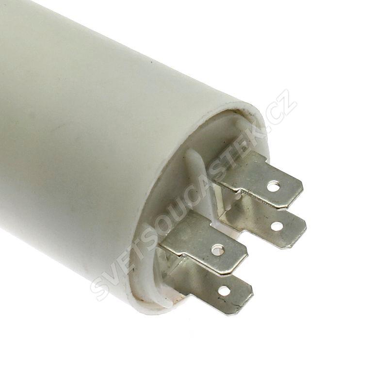 Rozběhový kondenzátor CBB60A 30uF/450V ±5% Faston 6.3mm SR PASSIVES CBB60A-30/450