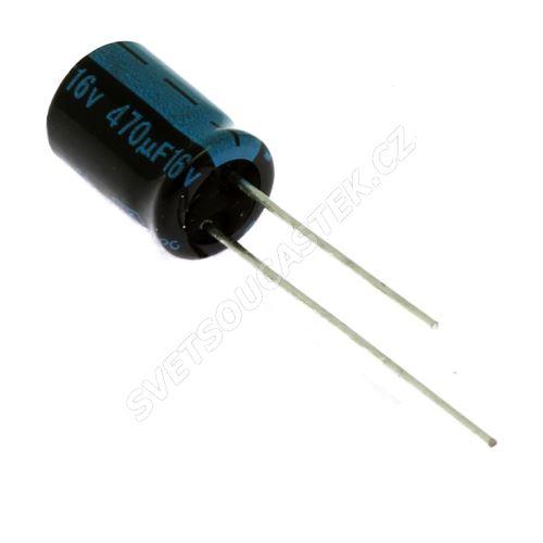 Elektrolytický kondenzátor radiální E 470uF/16V 8x11.5 RM3.5 105°C Jamicon TKR471M1CFBBM