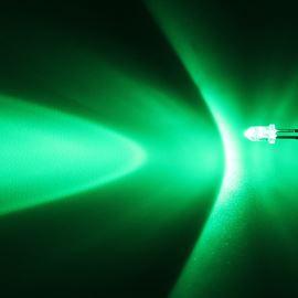 LED 3mm zelená 12000mcd/30° čirá Hebei 330PG2C