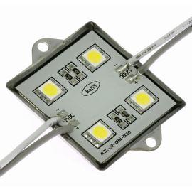 LED modul 4xLED 0.96W studená bílá, 72lm/120° - 36x36mm Hebei LM-5050W6-4P-12V