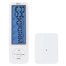Digitální bezdrátový teploměr s hodinami E3078 + 1x čidlo