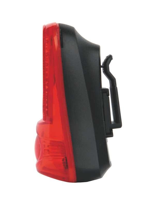 Svítilna na kolo 1x LED, na 2x AAA, zadní