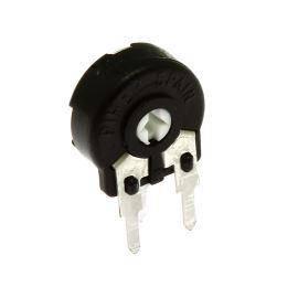 Uhlíkový trimr 10mm lineární 500k Ohm stojatý 20% Piher PT10LH01-504A2020S