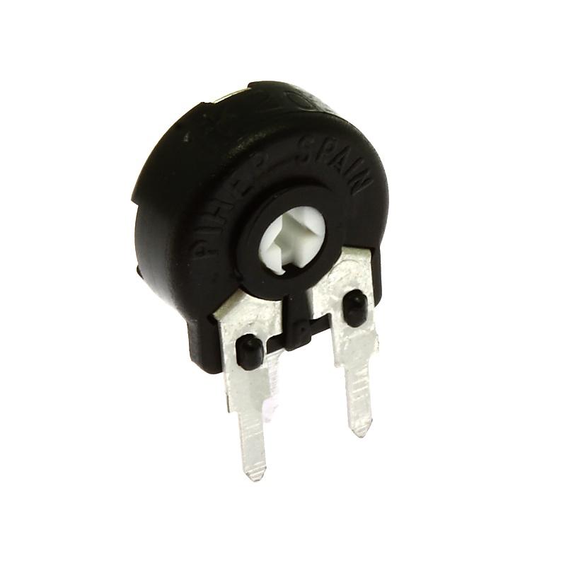 Levně Uhlíkový trimr 10mm lineární 25k ohm stojatý 20% piher pt10lh01-253a2020s