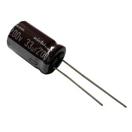 Elektrolytický kondenzátor radiální E 33uF/200V 12.5x20 RM5 105°C Nichicon UCA2D330MHD