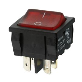 Kolébkový spínač do panelu spínací 2-pólový ON-OFF 6A/250V AC Bulgin H8653VBNBO