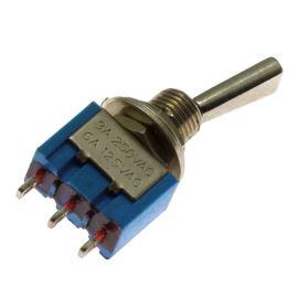 Páčkový spínač do panelu přepínací 1-pólový ON-ON 6/3A 125/250V AC Jietong  MTS-102-F1
