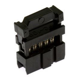 Konektor IDC pro ploché kabely 10 pinů (2x5) RM2.54mm na kabel přímý Xinya 110-10 T A K