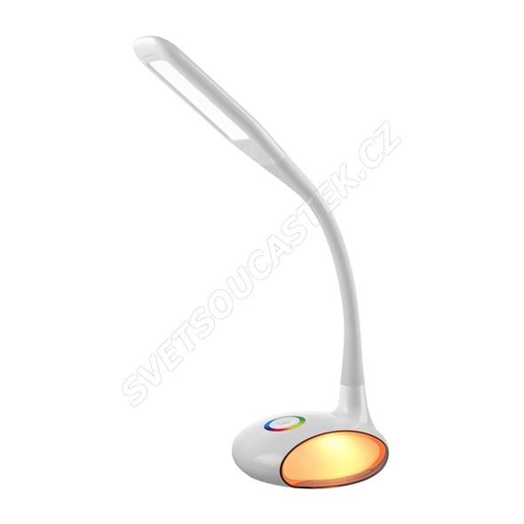 Stolní LED lampa 5W s RGB světelným efektem bílá Q8