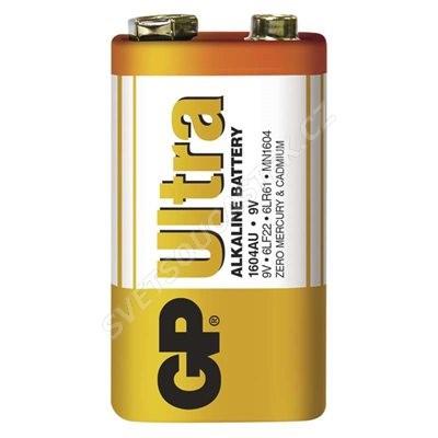 Alkalická batéria GP Ultra 6LF22 (9V), 1 ks v blistri