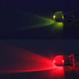 LED 5mm červeno-zelená 1120/750mcd/30° čirá spol. katoda Optosupply OSRGHC5B31A