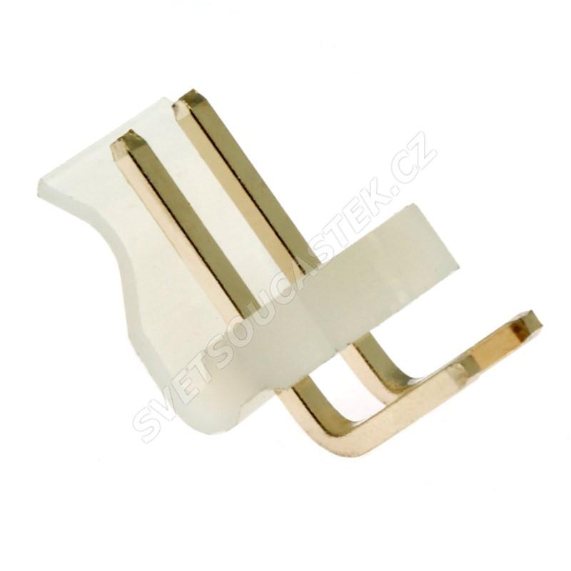 Konektor se zámkem 2 piny (1x2) do DPS RM3.96mm úhlový 90° pozlacený Xinya 134-02 R G