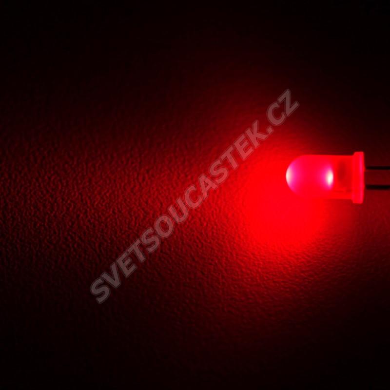 LED 5mm červená 140mcd/25° difúzní Wenrun LUE50330