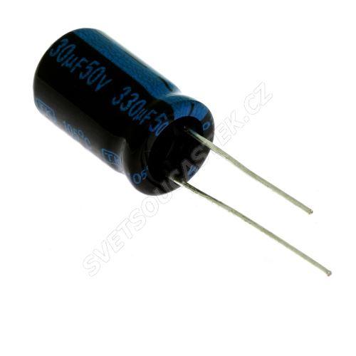 Elektrolytický kondenzátor radiální E 330uF/50V 10x16 RM5 105°C Jamicon TKR331M1HG16M